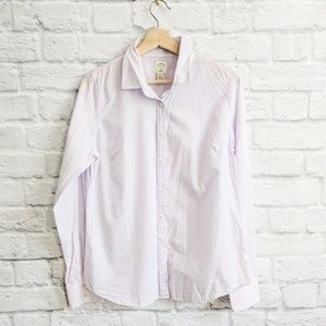 J. Crew Perfect Shirt in Stripe - Lavender lilac